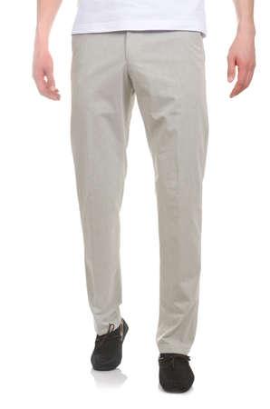 Fashion concept with trousers on white Stock Photo - 18199705