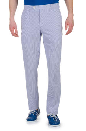 Fashion concept with trousers on white Stock Photo - 18199728