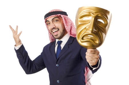 Arab man hypocrisy concept Stock Photo - 18636621