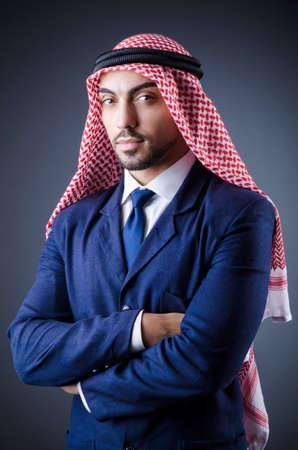 bohra: Arab businessman in studio portrait