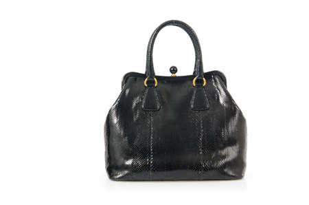 Nice elegant woman bag isolated on the white Stock Photo - 18199439