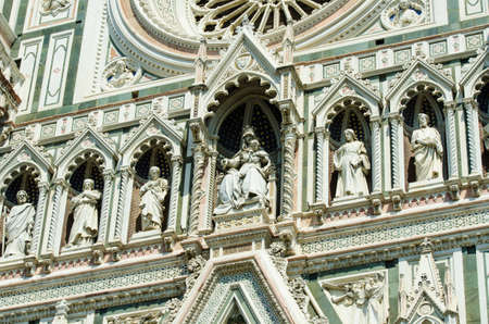 Elements  architecture of cathedral in Florence Stock Photo - 18174050