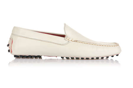 Fashion concept with male shoes on white Stock Photo - 18175141