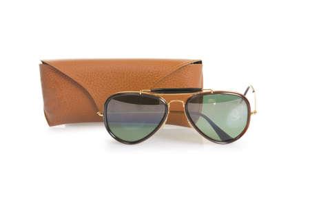 Elegant sunglasses isolated on the white Stock Photo - 18175349