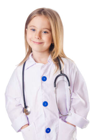 Little girl in doctor costume photo