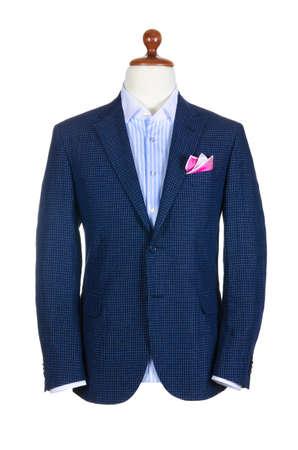 mannequins: M�nnlich clothinh Anzug auf Stand isoliert wei�