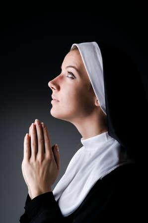 religious clothing: Young nun in religious concept