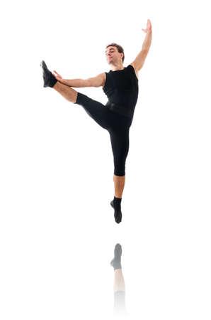 ballet hombres: Bailar?n aislado en el fondo blanco