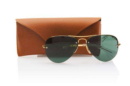 Elegant sunglasses isolated on the white Stock Photo - 18176980