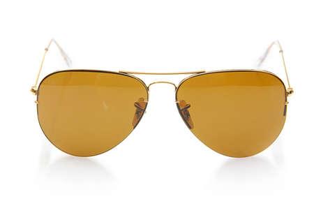 Elegant sunglasses isolated on the white Stock Photo - 18176990