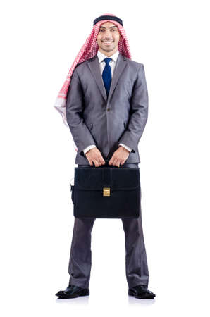 Arab businessman isolated on the white Stock Photo - 18177289