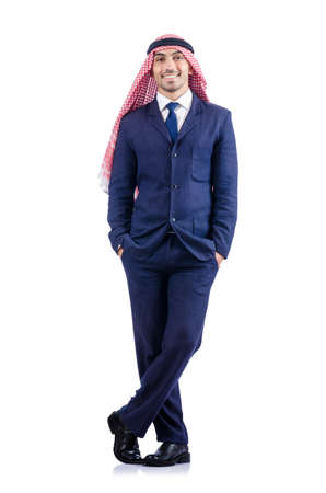 Arab businessman isolated on the white Stock Photo - 18654912