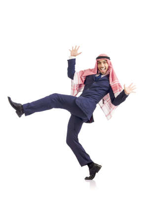 Arab man dancing from joy Stock Photo - 18654899