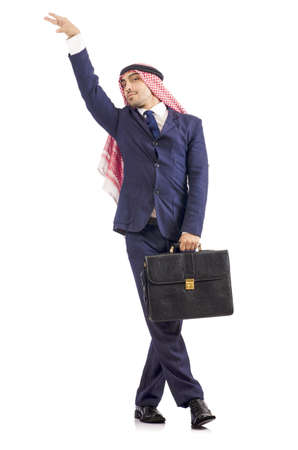 Arab businessman isolated on the white Stock Photo - 18654909