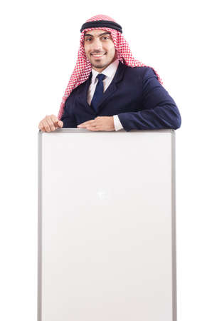 Arab man with blank board for message Stock Photo - 18653243