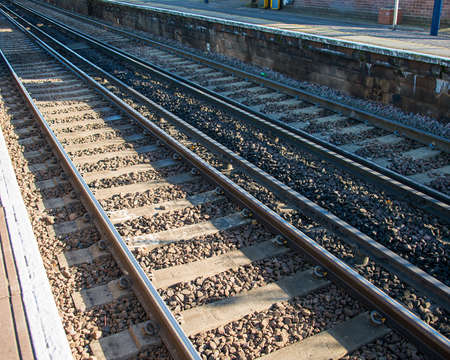 Rail tracks in bright summer day Stock Photo - 18302858
