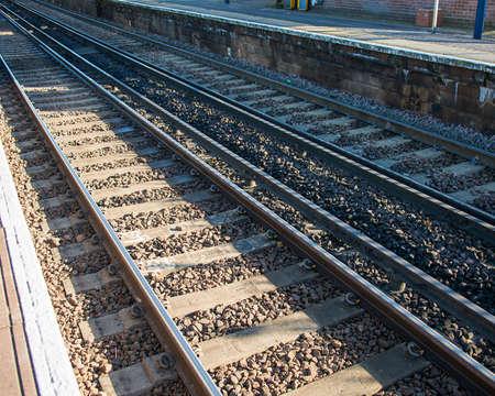 Rail tracks in bright summer day Stock Photo - 18302858