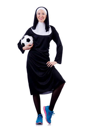 Young nun in religious concept Stock Photo - 18662900
