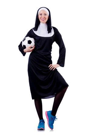 Young nun in religious concept Stock Photo - 18662900