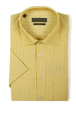 Nice male shirt isolated on the white Stock Photo - 18302868