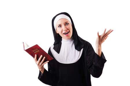 Young nun in religious concept Stock Photo - 18662919