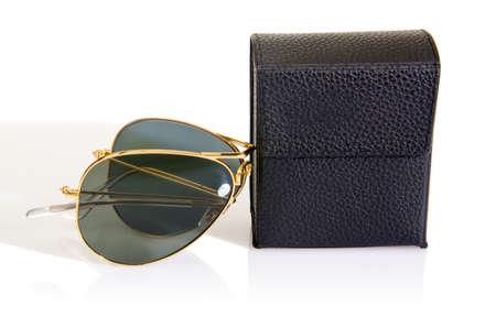 Elegant sunglasses isolated on the white Stock Photo - 18302605