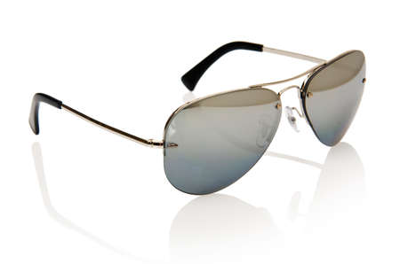 Elegant sunglasses isolated on the white Stock Photo - 18301431
