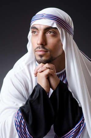 Arab businessman isolated on the white Stock Photo - 18302755