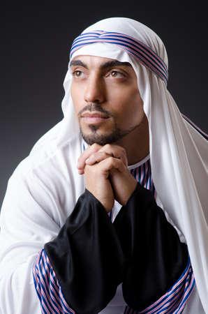qameez: Arab businessman isolated on the white Stock Photo