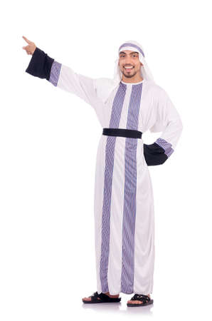 Arab man isolated on the white Stock Photo - 18662921