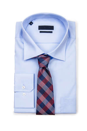 Nice male shirt isolated on the white Stock Photo - 18302616