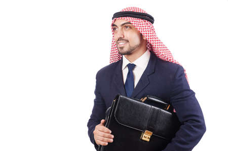 Arab businessman isolated on the white Stock Photo - 18663014