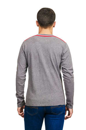 Male sweater isolated on the white Stock Photo - 18302676