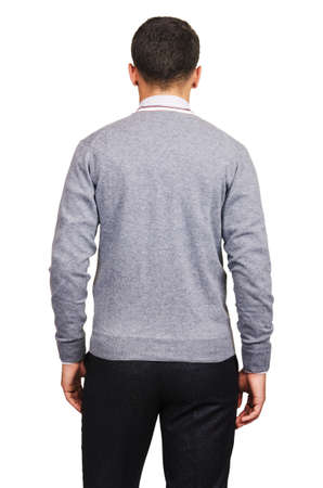 Male sweater isolated on the white Stock Photo - 18302627