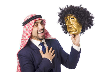 Arab man hypocrisy concept Stock Photo - 18663025