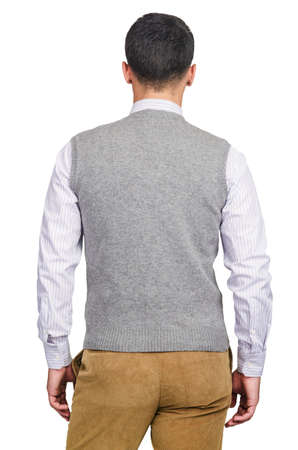Male sweater isolated on the white Stock Photo - 18302746