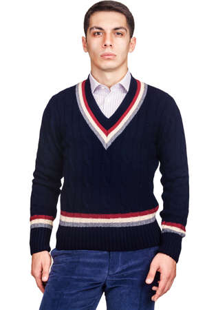 Male sweater isolated on the white Stock Photo - 18663035