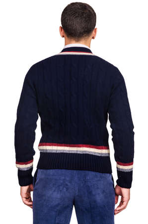 Male sweater isolated on the white Stock Photo - 18302674