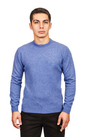 Male sweater isolated on the white Stock Photo - 18663047