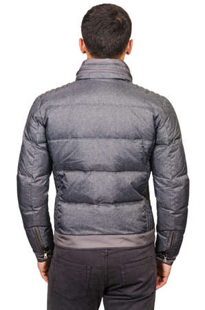 Male coat isolated on the white Stock Photo - 18302796