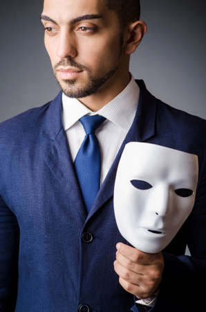 Man with black mask in studio Stock Photo - 18663061
