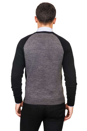 Male sweater isolated on the white Stock Photo - 18302733
