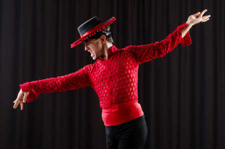 Man in studio dancing spanish dances photo