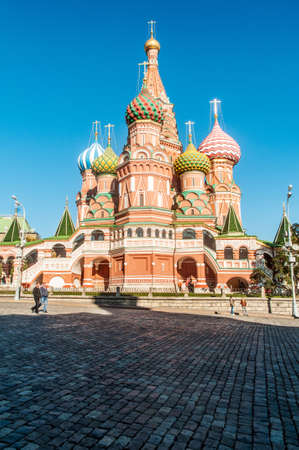 Famous st Vasily Blessed cathedral in Moscow Stock Photo - 18306314