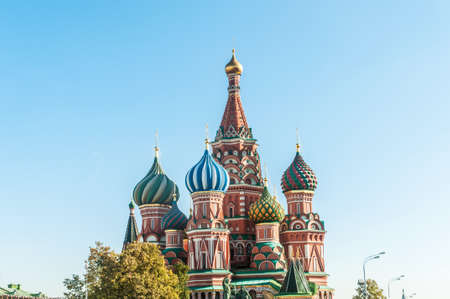 Famous st Vasily Blessed cathedral in Moscow Stock Photo - 18310428