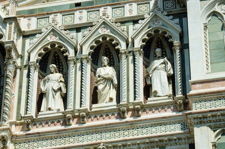 Elements  architecture of cathedral in Florence photo