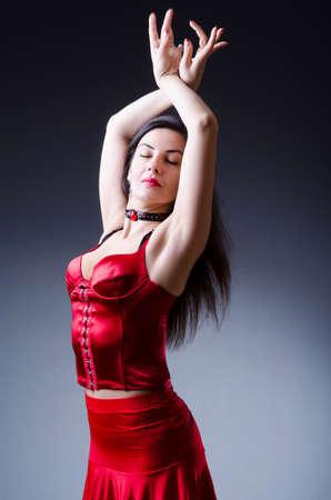 spanish style: Female dancer dancing spanish dances