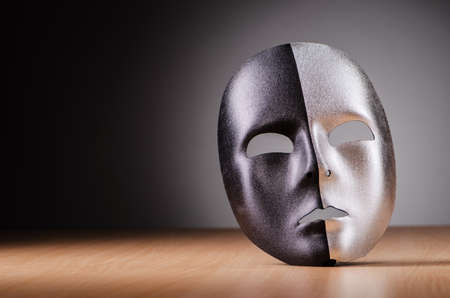 Mask against the dark background Stock Photo - 18340341