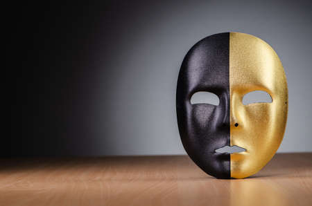 Mask against the dark background Stock Photo - 18340340