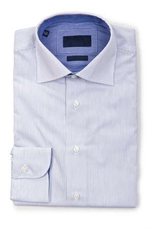 Nice male shirt isolated on the white Stock Photo - 18340342